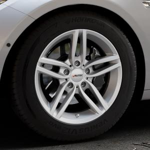 AUTEC Kitano Brillantsilber lackiert Felge mit Reifen in 17Zoll Winterfelge Alufelge auf silbernem BMW 535i GT Typ F07 xDrive 550i 530d 535d 520d 528i ⬇️ mit 15mm Tieferlegung ⬇️ Industriehalle 1 Thumbnail
