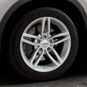 AUTEC Kitano Brillantsilber lackiert Felge mit Reifen in 17Zoll Winterfelge Alufelge auf silbernem BMW X1 Typ F48 (UKL-L) (F1X) ⬇️ mit 15mm Tieferlegung ⬇️ Industriehalle 1 Thumbnail