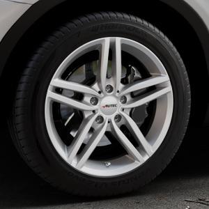 AUTEC Kitano Brillantsilber lackiert Felge mit Reifen in 18Zoll Winterfelge Alufelge auf silbernem BMW X3 Typ F25 (X3, X-N1) ⬇️ mit 15mm Tieferlegung ⬇️ Industriehalle 1 Thumbnail
