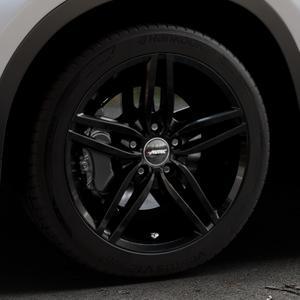 AUTEC Kitano Schwarz Felge mit Reifen in 18Zoll Winterfelge Alufelge auf silbernem BMW X1 Typ F48 (UKL-L) (F1X) ⬇️ mit 15mm Tieferlegung ⬇️ Industriehalle 1 Thumbnail