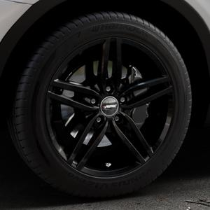 AUTEC Kitano Schwarz Felge mit Reifen in 18Zoll Winterfelge Alufelge auf silbernem BMW X3 Typ F25 (X3, X-N1) ⬇️ mit 15mm Tieferlegung ⬇️ Industriehalle 1 Thumbnail