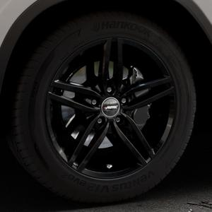 AUTEC Kitano Schwarz Felge mit Reifen in 18Zoll Winterfelge Alufelge auf silbernem BMW X3 Typ G01 (G3X) ⬇️ mit 15mm Tieferlegung ⬇️ Industriehalle 1 Thumbnail