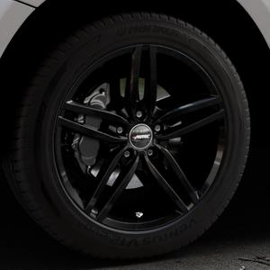 AUTEC Kitano Schwarz Felge mit Reifen in 19Zoll Winterfelge Alufelge auf silbernem Audi Q5 I Typ 8R ⬇️ mit 15mm Tieferlegung ⬇️ Industriehalle 1 Thumbnail
