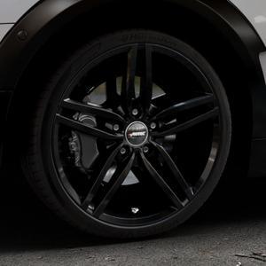AUTEC Kitano Schwarz Felge mit Reifen in 19Zoll Winterfelge Alufelge auf silbernem Mini F54 Typ UKL-L (Clubman) FMK ⬇️ mit 15mm Tieferlegung ⬇️ Industriehalle 1 Thumbnail