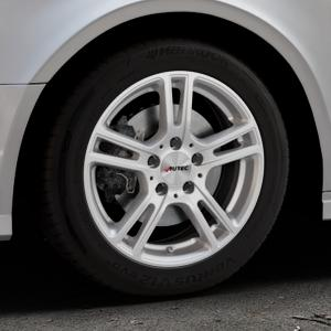AUTEC Mugano Brillantsilber lackiert Felge mit Reifen in 16Zoll Winterfelge Alufelge auf silbernem Audi A3 Typ 8V (Limousine) Facelift ⬇️ mit 15mm Tieferlegung ⬇️ Industriehalle 1 Thumbnail