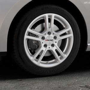 AUTEC Mugano Brillantsilber lackiert Felge mit Reifen in 16Zoll Winterfelge Alufelge auf silbernem Seat Leon Typ 5F ST Facelift ⬇️ mit 15mm Tieferlegung ⬇️ Industriehalle 1 Thumbnail