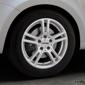 AUTEC Mugano Brillantsilber lackiert Felge mit Reifen in 16Zoll Winterfelge Alufelge auf silbernem Volkswagen (VW) Sharan III Typ 7N (15->) ⬇️ mit 15mm Tieferlegung ⬇️ Industriehalle 1 Thumbnail