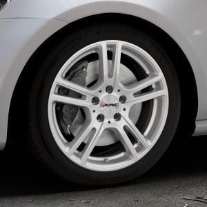 AUTEC Mugano Brillantsilber lackiert Felge mit Reifen in 17Zoll Winterfelge Alufelge auf silbernem Volkswagen (VW) Golf 7 ⬇️ mit 15mm Tieferlegung ⬇️ Industriehalle 1 Thumbnail