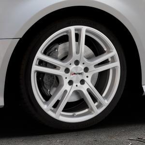 AUTEC Mugano Brillantsilber lackiert Felge mit Reifen in 18Zoll Winterfelge Alufelge auf silbernem Audi A3 Typ 8V Facelift ⬇️ mit 15mm Tieferlegung ⬇️ Industriehalle 1 Thumbnail