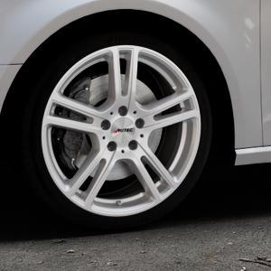 AUTEC Mugano Brillantsilber lackiert Felge mit Reifen in 18Zoll Winterfelge Alufelge auf silbernem Audi A3 Typ 8V ⬇️ mit 15mm Tieferlegung ⬇️ Industriehalle 1 Thumbnail
