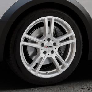 AUTEC Mugano Brillantsilber lackiert Felge mit Reifen in 18Zoll Winterfelge Alufelge auf silbernem Audi A4 Typ B9 Allroad ⬇️ mit 15mm Tieferlegung ⬇️ Industriehalle 1 Thumbnail