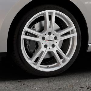 AUTEC Mugano Brillantsilber lackiert Felge mit Reifen in 18Zoll Winterfelge Alufelge auf silbernem Seat Leon Typ 5F ST Facelift ⬇️ mit 15mm Tieferlegung ⬇️ Industriehalle 1 Thumbnail