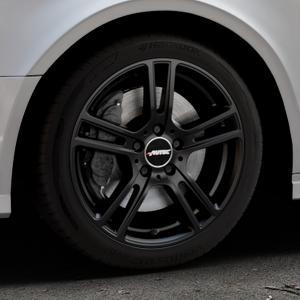AUTEC Mugano Schwarz matt Felge mit Reifen in 17Zoll Winterfelge Alufelge auf silbernem Audi A3 Typ 8V (Limousine) Facelift ⬇️ mit 15mm Tieferlegung ⬇️ Industriehalle 1 Thumbnail
