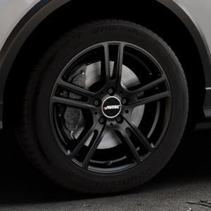 AUTEC Mugano Schwarz matt Felge mit Reifen in 17Zoll Winterfelge Alufelge auf silbernem Audi Q2 Typ GA ⬇️ mit 15mm Tieferlegung ⬇️ Industriehalle 1 Thumbnail