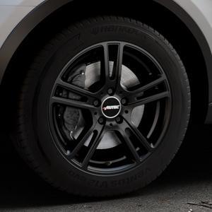 AUTEC Mugano Schwarz matt Felge mit Reifen in 17Zoll Winterfelge Alufelge auf silbernem Audi Q3 I Typ 8U Facelift ⬇️ mit 15mm Tieferlegung ⬇️ Industriehalle 1 Thumbnail
