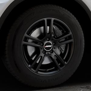 AUTEC Mugano Schwarz matt Felge mit Reifen in 17Zoll Winterfelge Alufelge auf silbernem Mercedes GLC-Klasse Typ X253 ⬇️ mit 15mm Tieferlegung ⬇️ Industriehalle 1 Thumbnail