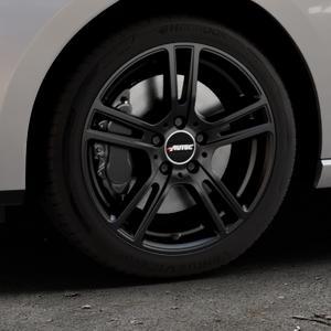 AUTEC Mugano Schwarz matt Felge mit Reifen in 17Zoll Winterfelge Alufelge auf silbernem Seat Leon Typ 5F ST Facelift ⬇️ mit 15mm Tieferlegung ⬇️ Industriehalle 1 Thumbnail