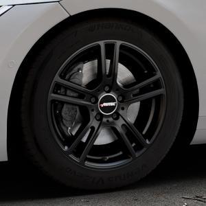 AUTEC Mugano Schwarz matt Felge mit Reifen in 17Zoll Winterfelge Alufelge auf silbernem Volkswagen (VW) Arteon Typ 3H ⬇️ mit 15mm Tieferlegung ⬇️ Industriehalle 1 Thumbnail