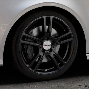 AUTEC Mugano Schwarz matt Felge mit Reifen in 18Zoll Winterfelge Alufelge auf silbernem Audi A3 Typ 8V (Cabriolet) ⬇️ mit 15mm Tieferlegung ⬇️ Industriehalle 1 Thumbnail