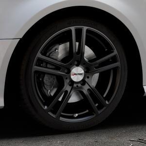 AUTEC Mugano Schwarz matt Felge mit Reifen in 18Zoll Winterfelge Alufelge auf silbernem Audi A3 Typ 8V Facelift ⬇️ mit 15mm Tieferlegung ⬇️ Industriehalle 1 Thumbnail