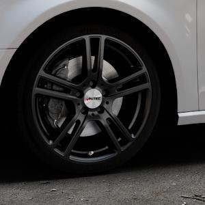 AUTEC Mugano Schwarz matt Felge mit Reifen in 18Zoll Winterfelge Alufelge auf silbernem Audi A3 Typ 8V ⬇️ mit 15mm Tieferlegung ⬇️ Industriehalle 1 Thumbnail