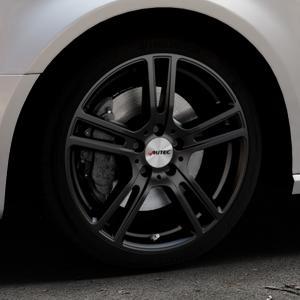AUTEC Mugano Schwarz matt Felge mit Reifen in 18Zoll Winterfelge Alufelge auf silbernem Audi A3 Typ 8V (Sportback) ⬇️ mit 15mm Tieferlegung ⬇️ Industriehalle 1 Thumbnail