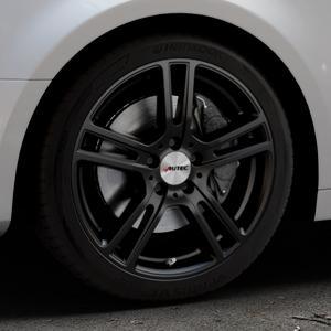 AUTEC Mugano Schwarz matt Felge mit Reifen in 18Zoll Winterfelge Alufelge auf silbernem Audi A4 Typ B9 (Limousine) ⬇️ mit 15mm Tieferlegung ⬇️ Industriehalle 1 Thumbnail