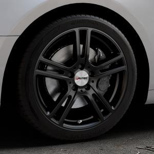 AUTEC Mugano Schwarz matt Felge mit Reifen in 18Zoll Winterfelge Alufelge auf silbernem Audi A5 Typ B9 (Coupé) (Cabriolet) ⬇️ mit 15mm Tieferlegung ⬇️ Industriehalle 1 Thumbnail