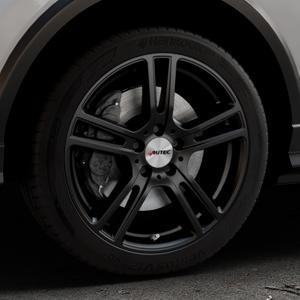 AUTEC Mugano Schwarz matt Felge mit Reifen in 18Zoll Winterfelge Alufelge auf silbernem Audi Q2 Typ GA ⬇️ mit 15mm Tieferlegung ⬇️ Industriehalle 1 Thumbnail