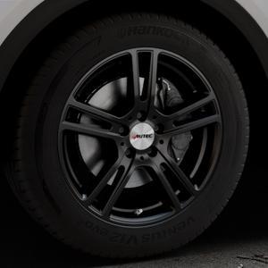 AUTEC Mugano Schwarz matt Felge mit Reifen in 18Zoll Winterfelge Alufelge auf silbernem Audi Q5 II Typ FY ⬇️ mit 15mm Tieferlegung ⬇️ Industriehalle 1 Thumbnail