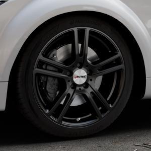 AUTEC Mugano Schwarz matt Felge mit Reifen in 18Zoll Winterfelge Alufelge auf silbernem Audi TT II Typ 8J (Roadster) ⬇️ mit 15mm Tieferlegung ⬇️ Industriehalle 1 Thumbnail