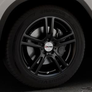 AUTEC Mugano Schwarz matt Felge mit Reifen in 18Zoll Winterfelge Alufelge auf silbernem BMW X3 Typ G01 (G3X) ⬇️ mit 15mm Tieferlegung ⬇️ Industriehalle 1 Thumbnail