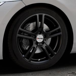 AUTEC Mugano Schwarz matt Felge mit Reifen in 18Zoll Winterfelge Alufelge auf silbernem Volkswagen (VW) Arteon Typ 3H ⬇️ mit 15mm Tieferlegung ⬇️ Industriehalle 1 Thumbnail