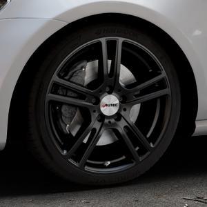AUTEC Mugano Schwarz matt Felge mit Reifen in 18Zoll Winterfelge Alufelge auf silbernem Volkswagen (VW) Golf 7 ⬇️ mit 15mm Tieferlegung ⬇️ Industriehalle 1 Thumbnail