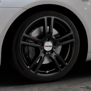 AUTEC Mugano Schwarz matt Felge mit Reifen in 18Zoll Winterfelge Alufelge auf silbernem Volkswagen (VW) Scirocco III Typ 13 ⬇️ mit 15mm Tieferlegung ⬇️ Industriehalle 1 Thumbnail