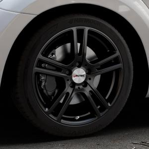 AUTEC Mugano Schwarz matt Felge mit Reifen in 18Zoll Winterfelge Alufelge auf silbernem Volkswagen (VW) The Beetle Typ 16 ⬇️ mit 15mm Tieferlegung ⬇️ Industriehalle 1 Thumbnail