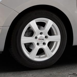 AUTEC Polaric Brillantsilber lackiert Felge mit Reifen in 15Zoll Winterfelge Alufelge auf silbernem Dacia Logan II Typ SD ⬇️ mit 15mm Tieferlegung ⬇️ Industriehalle 1 Thumbnail