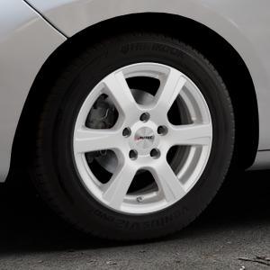 AUTEC Polaric Brillantsilber lackiert Felge mit Reifen in 15Zoll Winterfelge Alufelge auf silbernem Peugeot 207 SW ⬇️ mit 15mm Tieferlegung ⬇️ Industriehalle 1 Thumbnail