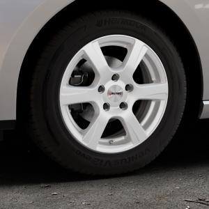 AUTEC Polaric ECE Brillantsilber lackiert Felge mit Reifen in 15Zoll Winterfelge Alufelge auf silbernem Seat Leon Typ 5F ST Facelift ⬇️ mit 15mm Tieferlegung ⬇️ Industriehalle 1 Thumbnail