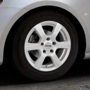 AUTEC Polaric ECE Brillantsilber lackiert Felge mit Reifen in 15Zoll Winterfelge Alufelge auf silbernem Volkswagen (VW) Golf 7 ⬇️ mit 15mm Tieferlegung ⬇️ Industriehalle 1 Thumbnail
