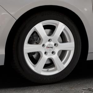 AUTEC Polaric ECE Brillantsilber lackiert Felge mit Reifen in 16Zoll Winterfelge Alufelge auf silbernem Citroen C4 Typ N ⬇️ mit 15mm Tieferlegung ⬇️ Industriehalle 1 Thumbnail
