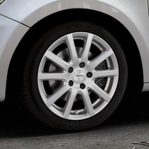 AUTEC Skandic Brillantsilber lackiert Felge mit Reifen in 16Zoll Winterfelge Alufelge auf silbernem Audi A1 Typ 8X ⬇️ mit 15mm Tieferlegung ⬇️ Industriehalle 1 Thumbnail
