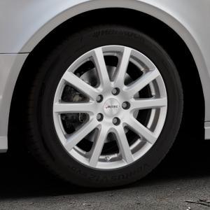 AUTEC Skandic Brillantsilber lackiert Felge mit Reifen in 16Zoll Winterfelge Alufelge auf silbernem Audi A3 Typ 8V (Limousine) Facelift ⬇️ mit 15mm Tieferlegung ⬇️ Industriehalle 1 Thumbnail