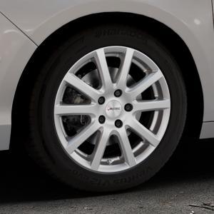 AUTEC Skandic Brillantsilber lackiert Felge mit Reifen in 16Zoll Winterfelge Alufelge auf silbernem Citroen C4 Typ N ⬇️ mit 15mm Tieferlegung ⬇️ Industriehalle 1 Thumbnail