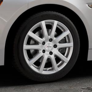 AUTEC Skandic Brillantsilber lackiert Felge mit Reifen in 16Zoll Winterfelge Alufelge auf silbernem Fiat 124 Spider Typ NF ⬇️ mit 15mm Tieferlegung ⬇️ Industriehalle 1 Thumbnail