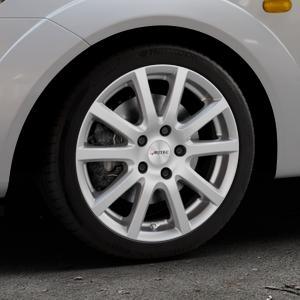 AUTEC Skandic Brillantsilber lackiert Felge mit Reifen in 16Zoll Winterfelge Alufelge auf silbernem Ford Fiesta V Typ JH1/JD3 ⬇️ mit 15mm Tieferlegung ⬇️ Industriehalle 1 Thumbnail