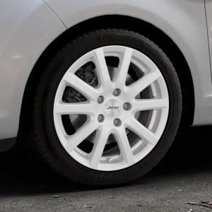 AUTEC Skandic Brillantsilber lackiert Felge mit Reifen in 16Zoll Winterfelge Alufelge auf silbernem Ford Fiesta VI Typ JA8 Facelift ⬇️ mit 15mm Tieferlegung ⬇️ Industriehalle 1 Thumbnail