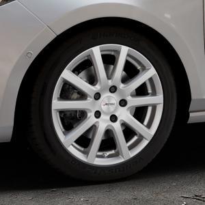 AUTEC Skandic Brillantsilber lackiert Felge mit Reifen in 16Zoll Winterfelge Alufelge auf silbernem Ford Fiesta VII Typ JHH ⬇️ mit 15mm Tieferlegung ⬇️ Industriehalle 1 Thumbnail