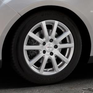 AUTEC Skandic Brillantsilber lackiert Felge mit Reifen in 16Zoll Winterfelge Alufelge auf silbernem Ford Focus III Typ DYB Facelift (Turnier) ⬇️ mit 15mm Tieferlegung ⬇️ Industriehalle 1 Thumbnail