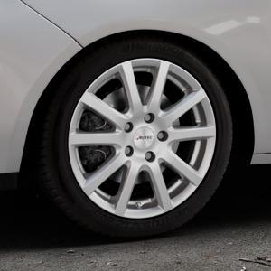 AUTEC Skandic Brillantsilber lackiert Felge mit Reifen in 16Zoll Winterfelge Alufelge auf silbernem Opel Adam ⬇️ mit 15mm Tieferlegung ⬇️ Industriehalle 1 Thumbnail